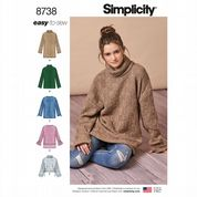 8738 Simplicity Pattern: Misses' Knit Top